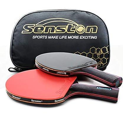 Profesional Raqueta De Tenis De Mesa. Avanzado. Raqueta De Tenis Ping Pong Paddle. Abierto Agarre, Long-Handle Red C 2
