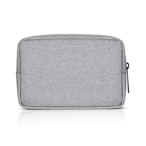 ERCENTURY Universal Electronics/Accessories Soft Carrying Case Bag, Durable & Light-weight,Suitable for Out-going, Business, Travel and Cosmetics Kit (Gray-Small)