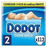 Dodot Bebé-Seco Pañales Talla 2, 112 Pañales, con Canales de Aire