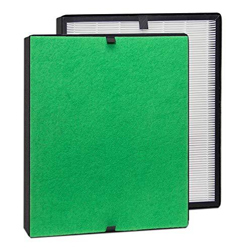 alfdaTrueHEPA Filter-Komplett-Set/Feinstaubfilter und TrueHEPA-Filter bestens geeignet für Allergiker (für alfda Luftreiniger ALR300 Comfort)