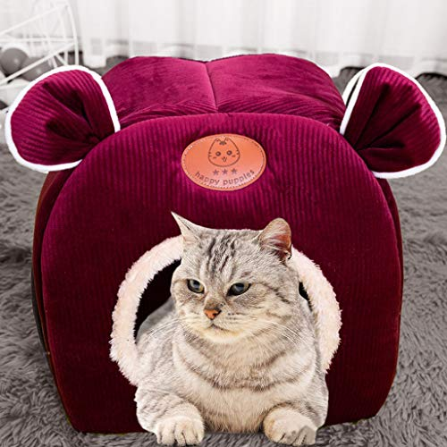 Kiarsan Ultra Soft Calming Bed - Cave Bed Cat House Bed - Comfortable Cat Bed Pet Tent House for Dog and Cat by Pet Supplies Orthopedic Dog Bed