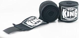 Top King TKHWR-01 Premium Cotton Muay Thai Boxing Hand Wraps Protector (Black)