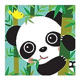 Cartoon Panda DIY 5D - Kit de pintura de diamante, taladro completo, bordado de punto de cruz, lona de arte, para decoración de pared en casa, para adultos y niños