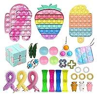 フィジットパック、フィジットパック安いストレスリリーフのフィジットおもちゃ大理石のメッシュポップ不安チューブgitgetのおもちゃの男性のための玩具 (Color : Fidget Pack-9)