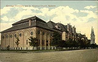Gonzaga University and St. Aloysius Church Spokane, Washington Original Vintage Postcard