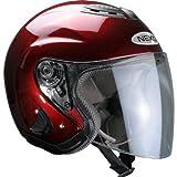Nexo Jethelm Motorradhelm Helm Motorrad Mopedhelm Jethelm Travel Bordeaux M, Unisex, Chopper/Cruiser, Sommer, Thermoplast, rot