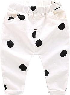 WanYang Niño Impresión de Punto Pantalones Lunares Pantalones Edad 1–6 Años