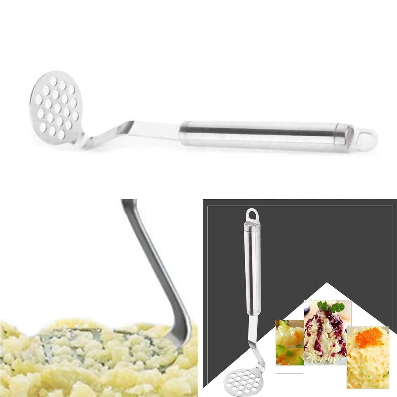 維持アナログうそつきxiaoxiaoguo 1ピースステンレス鋼ポテトマッシャーガーリックプレス野菜フルーツプレスガジェットキッチンアクセサリー