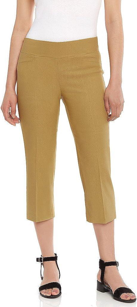 Leveret Women's Pants Pull on Comfort Fit Dress Capri Pants (Size 4-18)