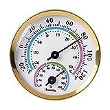 BAIRU Mini termómetro interior higrómetro analógico 2 en 1 temperatura humedad monitor indicador para el hogar habitación oficinas al aire libre