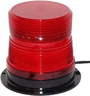 North American Signal LEDQ375-R LED High-Intensity Quad Flash LED Beacon, Permanent Mount, Red