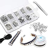 Earring Making Supplies Kit,Camfosy 912 PCS Jewelry Making Kit,Hypoallergenic Gold Silver Jewelry Findings Set with Earring Hooks Backs Rings, DIY Beginners Adults Making & Repair