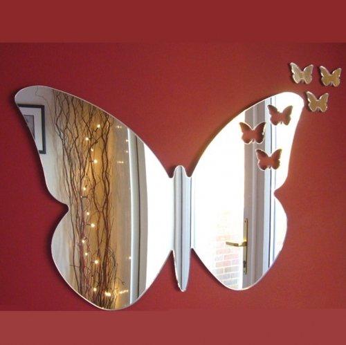Super Cool Creations Papillons Hors de Papillon Miroir Ãâ € 60 cm x 40 cm & 3 Mini pour Femme