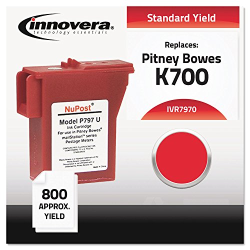 Innovera 7970 880 Page-Yield Remanufactured Cartridge with 797-0 Postage Meter, Red