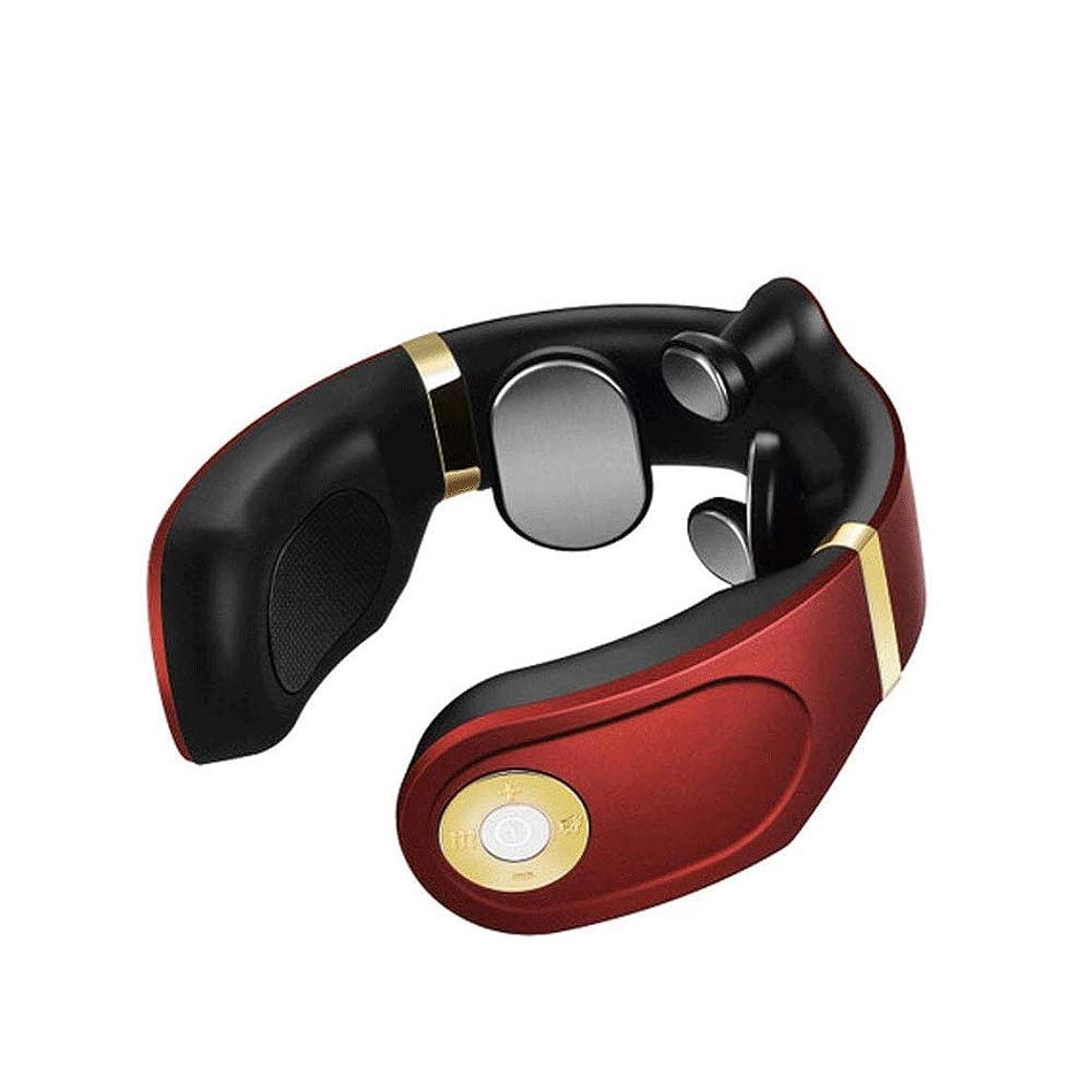 殺人者証言するにじみ出るMIXII2402 熱、首や肩の痛みを軽減し、贈り物で指圧深部組織マッサージャー多機能ポータブルネック (Color : Red)