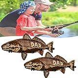 Soporte de caña de pescar para lubina de boca grande de madera de 2 piezas, soporte de almacenamiento de caña de pescar de madera montado en la...