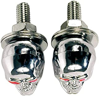 Custom Accessories Chrome Skull Style License Plate Fasteners