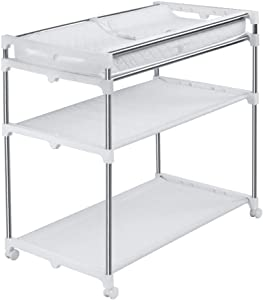 YDHYYDQCFJL Baby Diaper Changing Table-Change Table Stainless Steel Baby Diaper Station Portable Diaper Unit Storage Station Baby Changing Table Massage Station