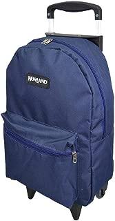 Mochila com Rodas Newland Basic Azul Marinho Mantica