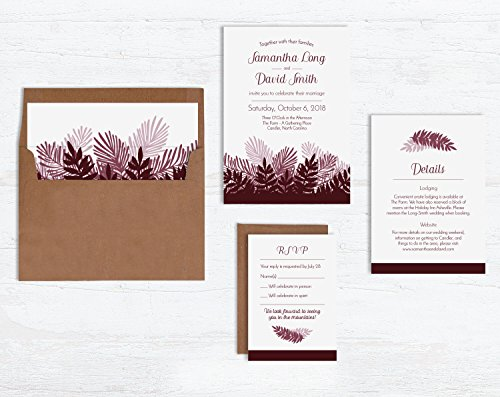 Pine Branch Wedding Invitation Sets