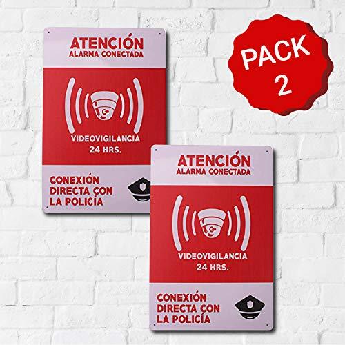 MARQUISE & LOREAN Carteles Alarmas Zonas Videovigilada Placas VideoVigilancia Seguridad Protegemos TÚ Casa Resistentes Aquí te lo DEMUESTRO (2)