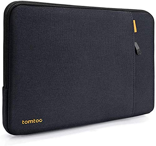 tomtoc Laptop Sleeve for 2018-2020 13-inch MacBook Air A1932 A2179, 13-inch MacBook Pro USB-C A2159 1989 A1706 A1708, Dell XPS 13, Notebook Case Bag with Accessory Pocket, Blue Black