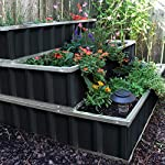 KING BIRD 3 Tiers Raised Garden Bed Dismountable Frame Galvanized Steel Metal Patio Garden Elevated Planter Box 46''x46… 14 【Use it as 3 Individual Raised Bed】--- Each tier is connected by the fastener connectors, and you can take the connectors down to make the whole raised bed to 3 individual raised garden bed and get more cultivated area. Or used as 3 tiers raised bed to plant 3 different needs plants. Capacity 21 Cu Ft of Soil 【THREE YEARS WARRANTY】--- The most wonderful design of our KING BIRD raised garden bed is not only about the convenient and fast installation without tools, also for its smart design to vastly increase the loading ability and capacity. THREE YEARS WARRANTY for the whole raised bed. 【Multilayer Galvanized Paint】--- Upgraded multilayer galvanized paint efficiently prevents rust and continues to beauty; also never worry about that the rain damage the wood garden bed; galvanized steel garden bed provides a lasting use and no discoloration. No painting inside, no worries about the damage for plants.