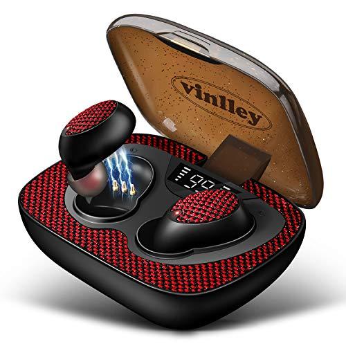 Ecouteur Bluetooth Ecouteur Sans Fil Oreillette Bluetooth Casque Bluetooth Etui de Chargement Microphones Autonomie à 100H IPX7 Étanche Anti-Bruit CVC 8.0 pour Smartphone Sport PC Tablette PS4