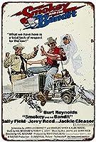 なまけ者雑貨屋 メタルサイン (Smokey and the Bandit Movie Poster Burt Reynolds) さび風デザイン ブリキ看板