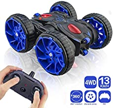 Remote Control Stunt Car, RC Car Toy 15km/h All Terrain Off Road 4WD Double Sided Running, 360° Rotation & Flips Remote Control Car Toy Gift for Boys & Girls Aged 3 4 5 6 7 8 9 10 11 12