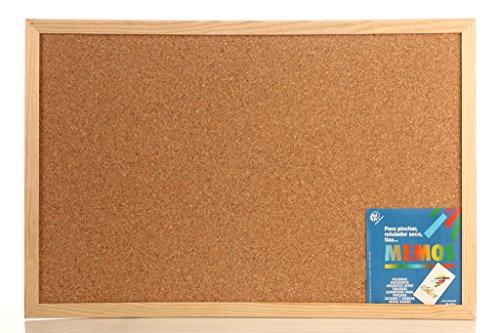 Tablero de Corcho 60x90 Con moldura de madera reforzada