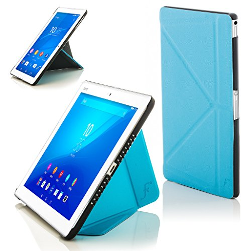 Forefront Cases Smart Hülle für Sony Xperia Z4 Tablet-PC (25,6 cm 10,1 Zoll) SGP771 Origami Smart Schutzhülle Tasche Case Cover - R&um-Geräteschutz & Smart Auto Schlaf Wach Funktion (HELL BLAU)