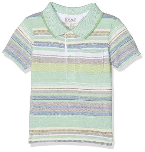 Kanz Kanz Baby-Jungen Polohemd 1/4 Arm Poloshirt, Mehrfarbig (Y/D Stripe 0001), 68