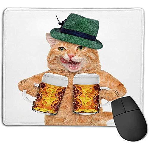 Katze Coole Katze mit Hut und Bierkrügen Bayerische Deutsche Getränkefest Tradition Traditionell Humorvoll für Laptop-Computer PC-Tastatur