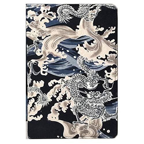 LICHUAN Cuaderno retro papelería celosía creativa cuaderno diario diario simple cubierta de tela Diario cuadrícula diario cuaderno cuaderno cuaderno bloc de notas (color: C)