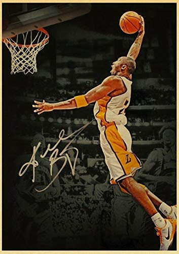 Great Basketball Player idol Kobe Bryant 24 Poster Modern Simple Living Room Decoration Oil Painting Wall Art Home Deocor (Color : Q, Size (Inch) : 50x70cm)