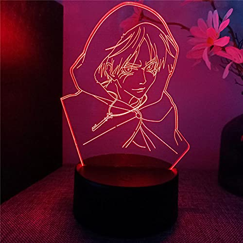 Ataque a Titan 3D LED ilusión lámpara noche luz juegos regalos 16 colores cambio automático escritorio decoración lámparas regalo cumpleaños con control remoto