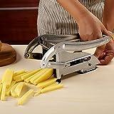 JYDHBDA - Cortador de patatas profesional de acero inoxidable con ventosa, trituradora manual multifuncional ideal para patatas, zanahorias, pepinos