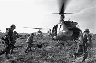 Troops Racing for Helicopters in Vietnam War, 1968 - Vintage Photo Art Print (12