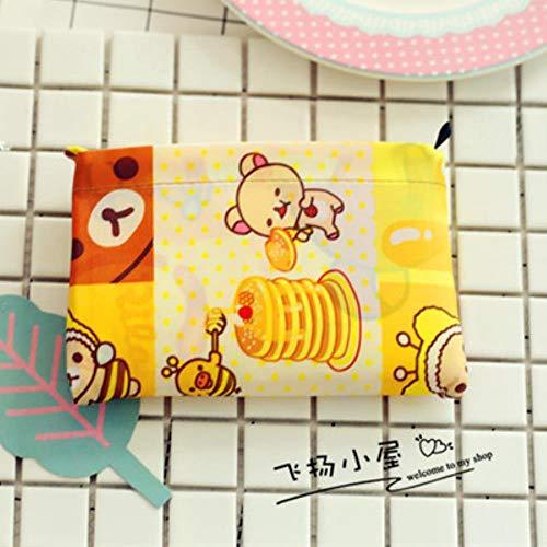 TOSISZ Little Twin Stars Bolsos De Compras Reutilizables Plegables Grandes My Melody Eco Bag Bolso Grande De Nailon para Comestibles Bolso, U