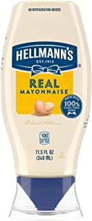 Hellmann's Real Mayonnaise Squeeze Bottle Made from 100% Recycled Plastic, No-Mess Cap, Made with Cage Free...