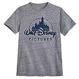 Disney Walt Pictures Logo Camiseta para Hombre - Gris, Multicolor, Large