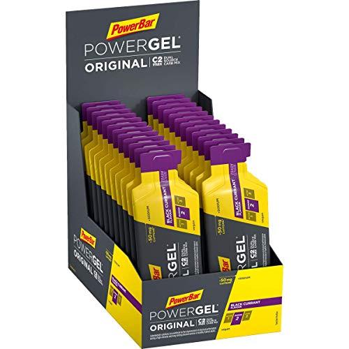PowerBar PowerGel Original Black Currant 24x41g - High Carb Energy Gel + C2MAX Magnesio e Sodio