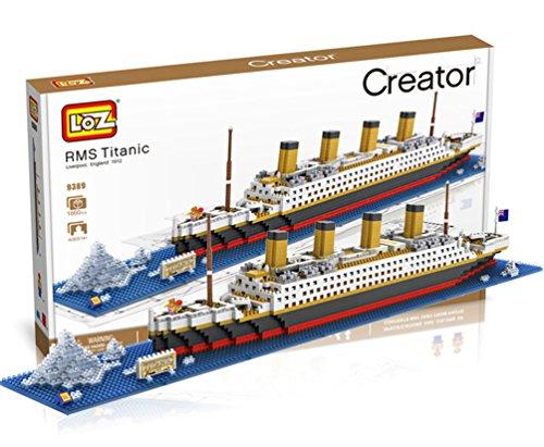 Loz 9389. Kit de construccion miniaturizada. Barco Titanic. 1860 piezas