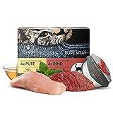 Pets Deli Comida para Gatos 8 x 85 g Carne de Vacuno y Pavo   100 % de Calidad alimentaria, sin aditivos innecesarios   Comida húmeda para Gatos sin Cereales   Alto Contenido de Carne