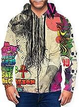 GongWe Rob Zombie The Electric Warlock Acid Witch Mens Hoodie 3D Printing Pullover Sweatshirt Full Zip Sportswear Jacket Black