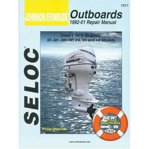 johnson/evinrude outboards, all v engines, 1992-01