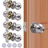 Best Door Knobs - KONIGEEHRE 4 Pack Privacy Door Knobs Stain Nickel Review