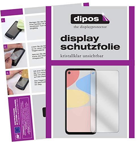 dipos I 6X Schutzfolie klar kompatibel mit Google Pixel 4a 5G Folie Displayschutzfolie (bewusst Kleiner als das Glas, da Dieses gewölbt ist)