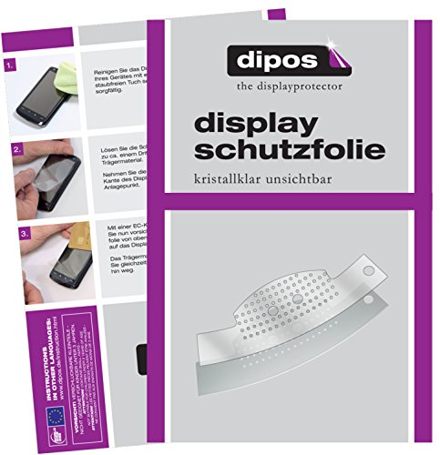 dipos I 2X Schutzfolie klar kompatibel mit Jura C50 Tropfblech Folie Bildschirmschutzfolie